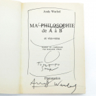 Andy Warhol - The philosophy of andy warhol from a to b and back again (in French) (Art books)